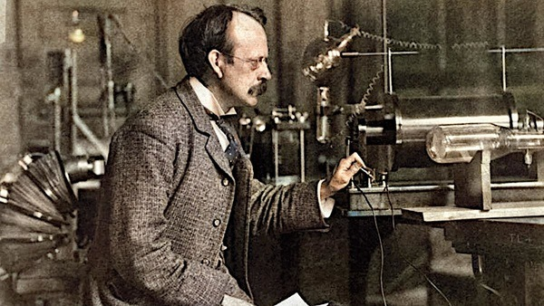 J. J. Thomson with its cathode-ray tube