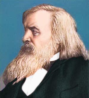 A portrait of Dmitri Mendeleev