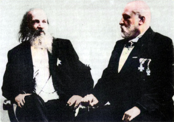 Dmitri Mendeleev with Clemens Winkler in Berlin on 19 March 1900