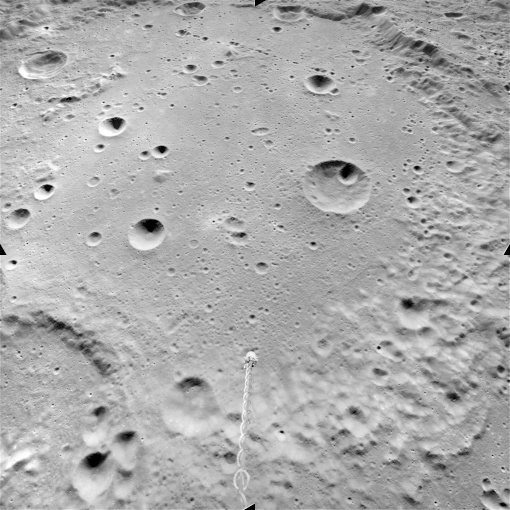 Mendeleev, a lunar crater named after him (1972)