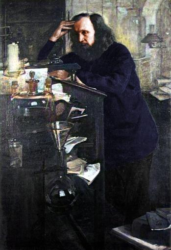 Dmitri Mendeleev in laboratory