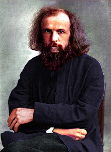 Dmitri Mendeleev on chair