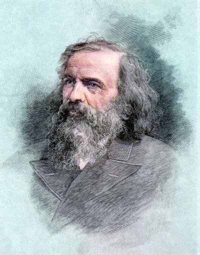 A sketch of Dmitri Mendeleev
