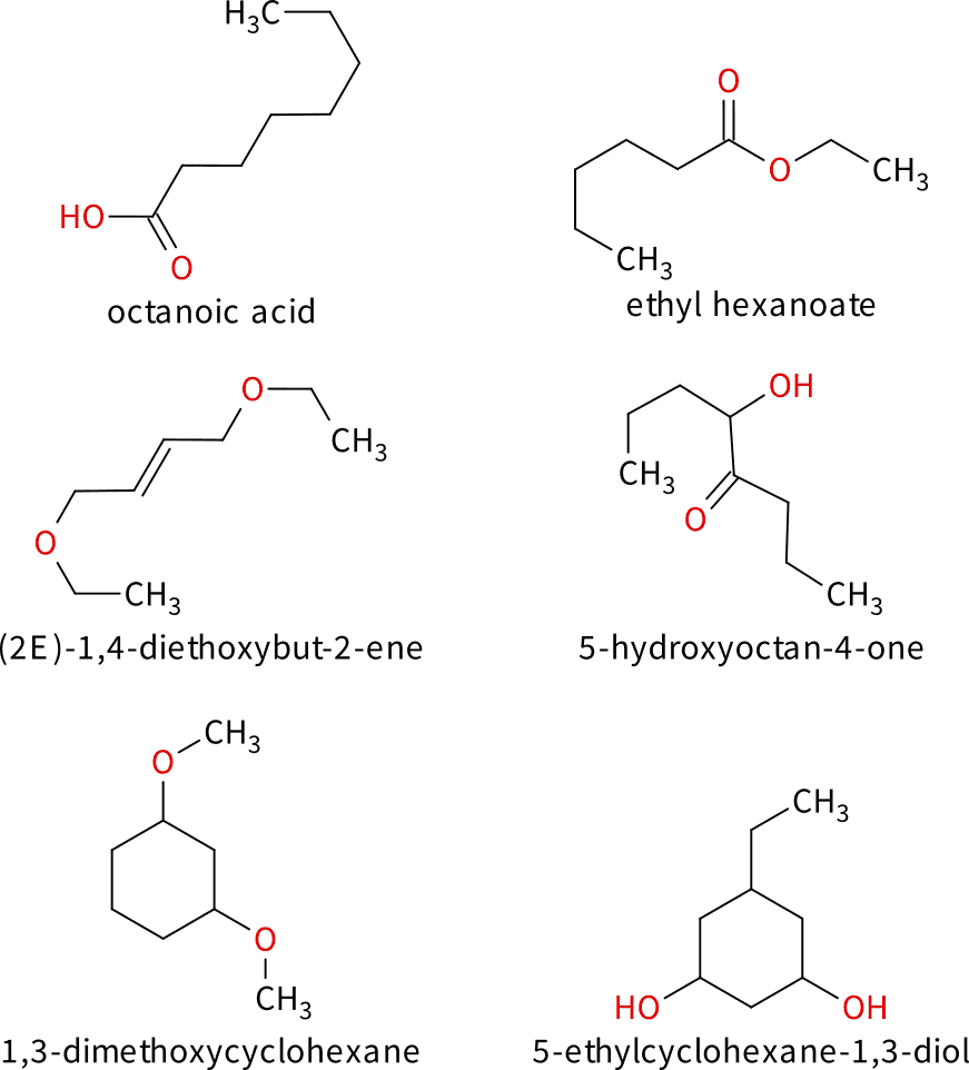 Some Compounds with the molecular formula C8H16O2