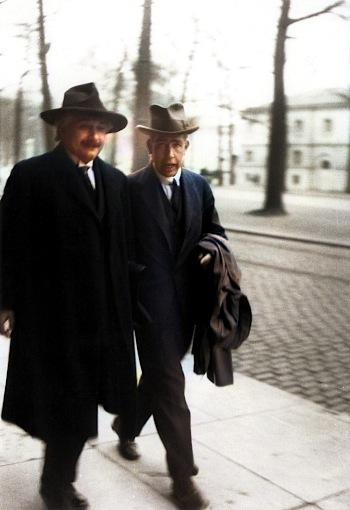 Niels Bohr with Sweden PM Tage Erlander (1951)