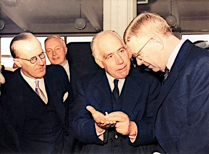 Niels Bohr with Gustaf VI Adolf
