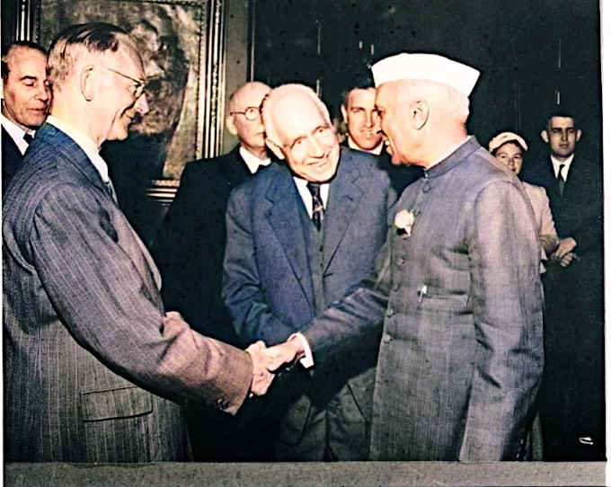 Niels Bohr with Indian PM Nehru
