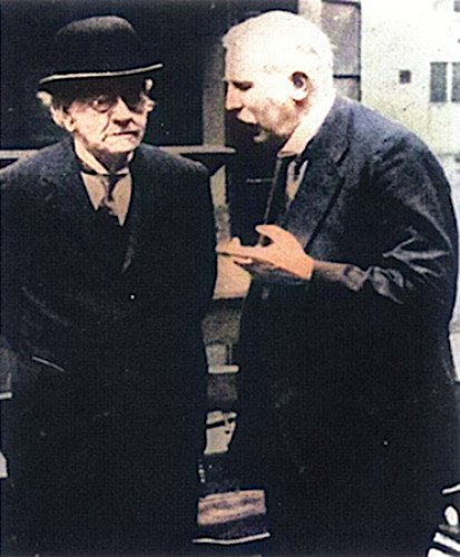 J. J. Thomson with his student Rutherford