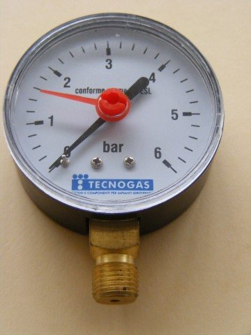 Pressure Gauge Scaled in the bar