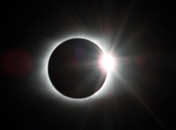 Sun's corona during an eclipse