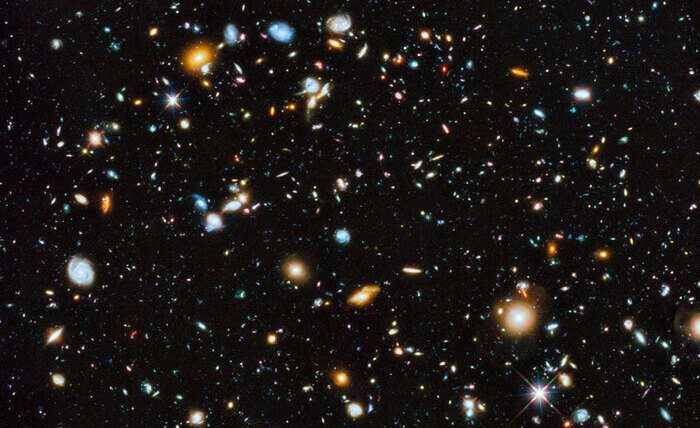 A photograph of the universe from the Hubble telescope